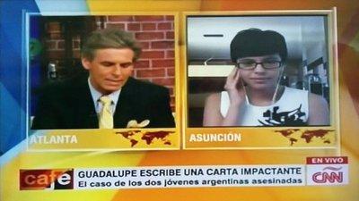 Mensaje de paraguaya por turistas asesinadas conmueve al mundo. Hasta la CNN habla de ella.
