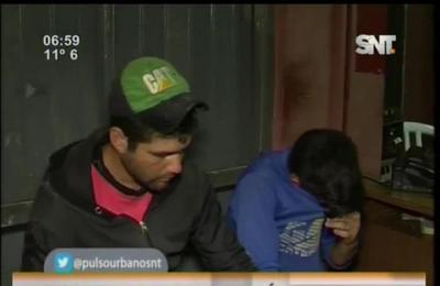 Supuestos motochorros detenidos en Guarambaré
