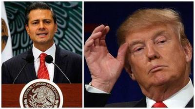 Peña Nieto y Trump continúan en Twitter debate sobre muro