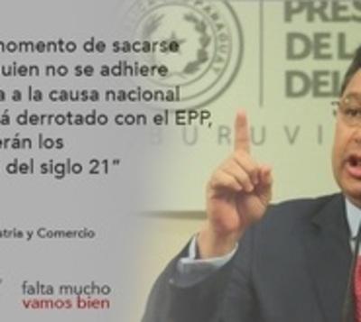 """Leite en discurso sobre EPP y oposición: """"Vamos a fumigar las ratas"""""""