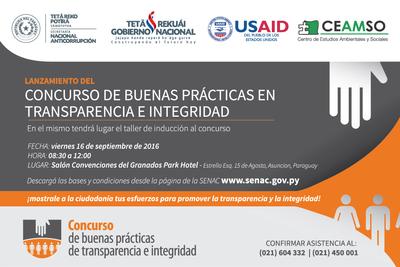 Senac lanzará concurso sobre prácticas de transparencia en la gestión pública