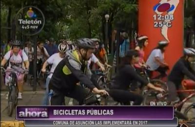 Bicicletas públicas en Asunción