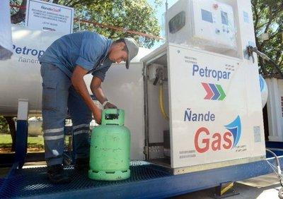 Precio del gas se mantiene a 5.000 al consumidor final