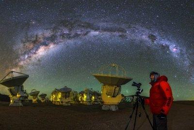 Utilizan antenas que permiten ver el pasado del universo