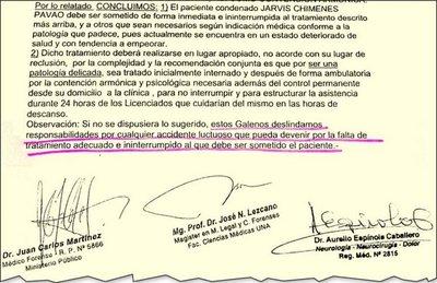 Tras cese de lujos, Chimenes Pavão quiere ser internado en una clínica