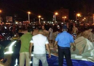 Heridos tras colapso del tobogán gigante siguen en estado de observación