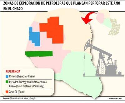 Tres petroleras proyectan perforar en el Chaco