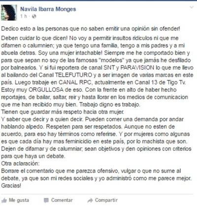 Navila Ibarra Se Defiende De Sus Detractores