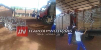 MOBILIARIOS RENOVADOS EN ESCUELAS DE ITAPÚA