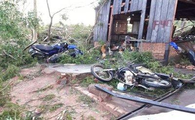 Fugaz tormenta destrozó viviendas en San Pedro