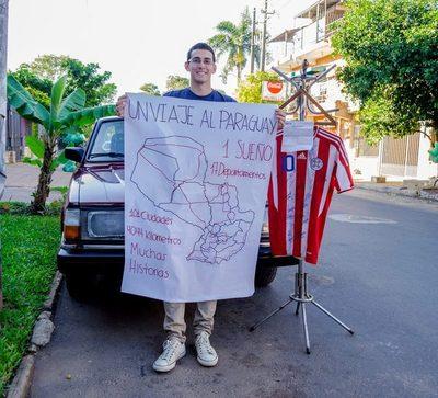 Joven visitará 101 ciudades de Paraguay… caminando