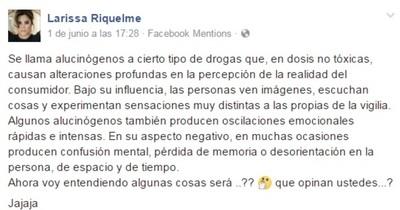 "Larissa Riquelme Tajante Disparó ""Dejá De Alucinar"""