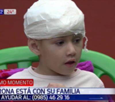 Niña atropellada en San Lorenzo está con su familia y busca techo