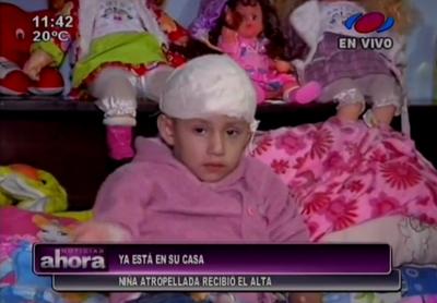 Niña atropellada en San Lorenzo recibe alta médica