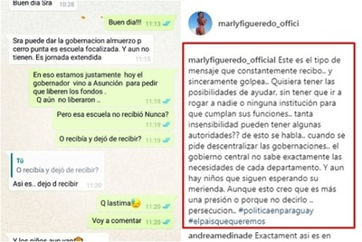 """Marly Figueredo Puso En """"evidencia"""" El Tipo De Mensaje Que Recibe Constantemente"""