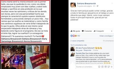 Dahiana Bresanovich Y El Escrito Que Le Dedicaron Tras Su Debut En El 'Baila'
