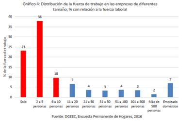 El 71% de la fuerza laboral de Paraguay está en Mipymes