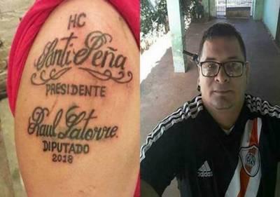 Fanático olimpista 'pasó la raya': se tatuó en el brazo nombres de sus candidatos