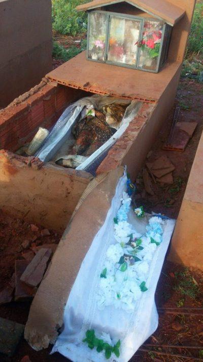 Profanaron tumba en el cementerio de Pedro Juan