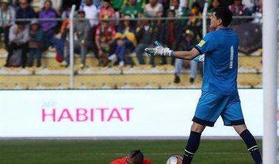 Portero boliviano expresa su sincero deseo de que Chile vaya al Mundial