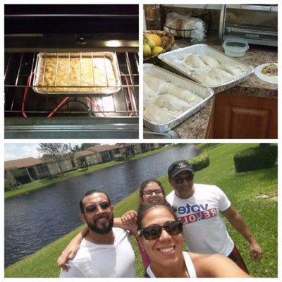 Paraguayos sobrevivieron a Irma con empanadas y chipa guasu