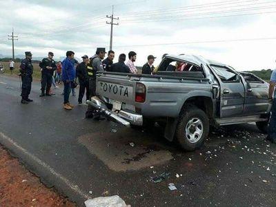 Fatal accidente en Mbocayaty