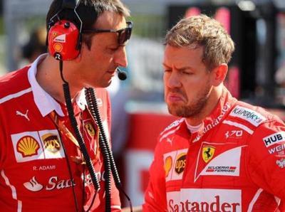 Sebastian Vettel ve difícil una remontada