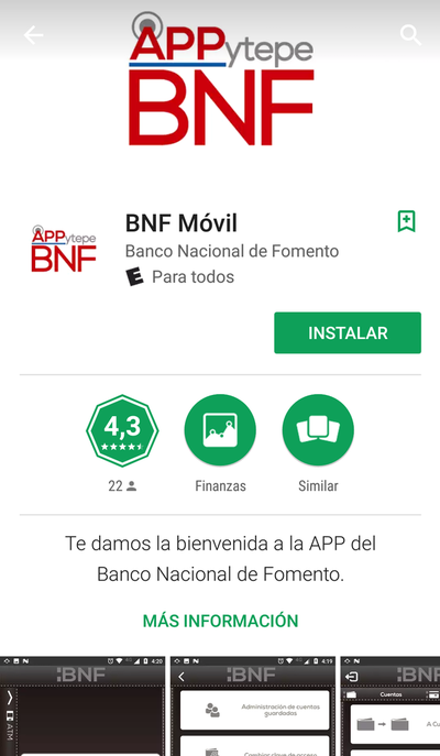 BNF presentó aplicación móvil