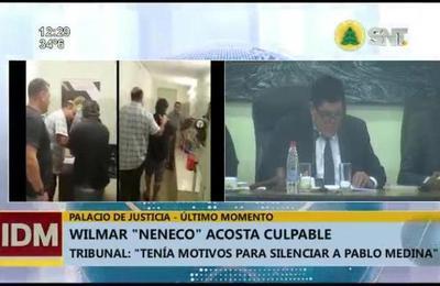 Declaran culpable a Wilmar Neneco Acosta