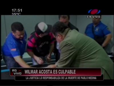 Vilmar Acosta fue hallado culpable
