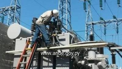 Lambaré estará sin energía eléctrica hasta las 18:00, anuncia la ANDE