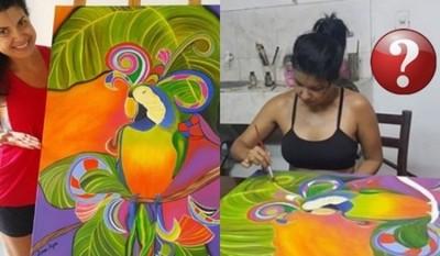 Lorena Azucas Explicó El Origen De Su Talento Con La Pintura