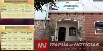 SNPP ENCARNACIÓN INICIA CURSOS GRATUITOS