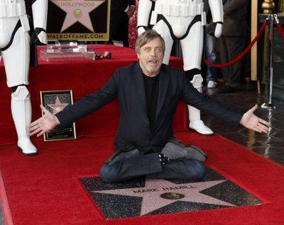 Mark Hamill desvela su estrella en el Paseo de la Fama