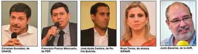Candidatos a diputados presentan propuestas genéricas en debate