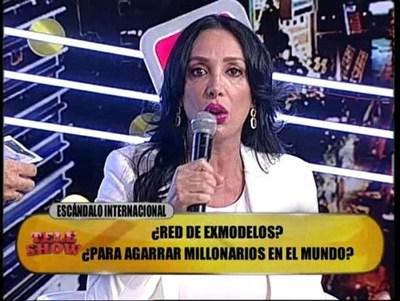 """Ayesa Frutos estalló contra integrantes de """"TeleShow"""""""