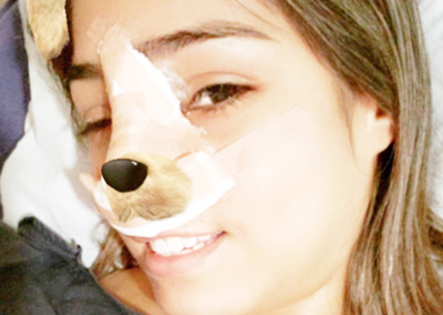 Nadia Portillo se operó la nariz para cantar