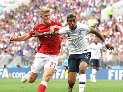 Kimpembe fue el mejor en el partido de Francia-Dinamarca