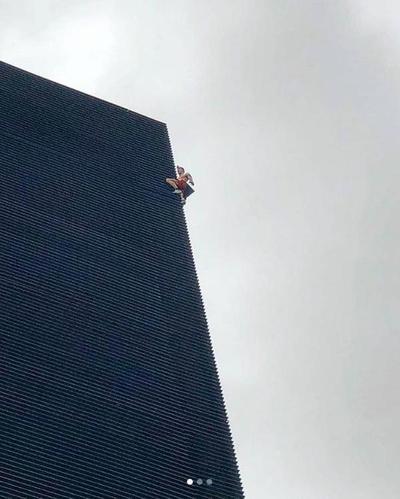 El hombre araña ruso trepó edificio asunceno