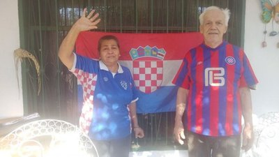 Un hincha croata muy particular
