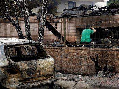 Grecia sufre uno de los peores incendios en dos décadas