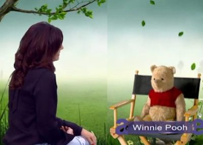 Entrevistó al querido Winnie Pooh