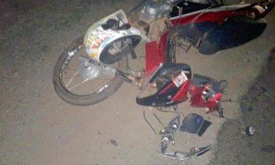 Ñandereja 2 hermanos en accidente de moto