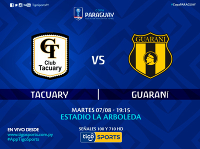 Tacuary versus Guaraní, por Tigo Sports