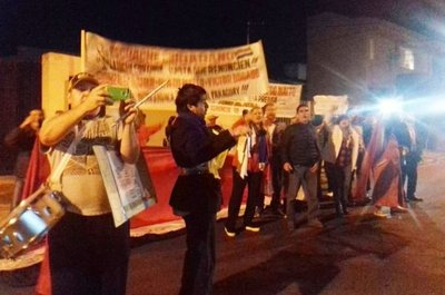 Incidentes en repudio a Bogado