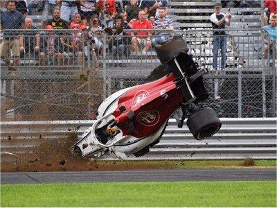 Impactante accidente en el GP de Italia