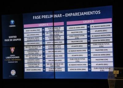 Ya se sorteó la Conmebol Libertadores femenino de Futsal FIFA