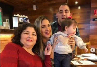 Anahí Sánchez Junto A Su Familia En Brasil