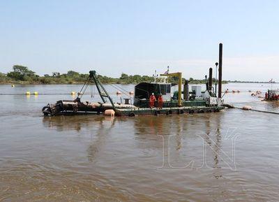 Inician los trabajos de dragado y mantenimiento del río Paraguay