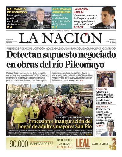 Edición impresa, 23 de setiembre de 2018